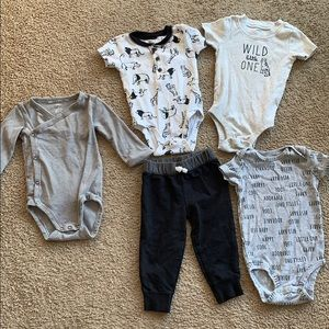 Carters baby boy one piece lot
